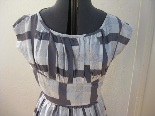 gray ghost plaid bodice closeup