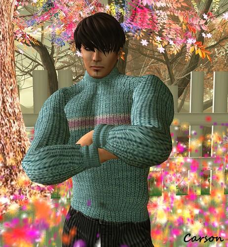 KEDAMA MENS  Light Blue Knitted Sweater