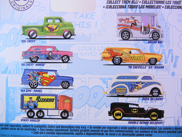 HOT WHEELS NOSTALGIA DC COMICS A SET