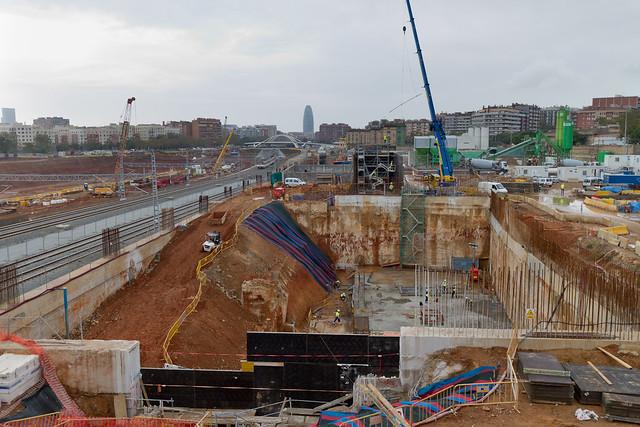 Zona de las obras de la línea 9 del Metro - Sur - 03-11-11