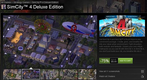 SimCity 4 Deluxe On Sale via Steam for !!!!!