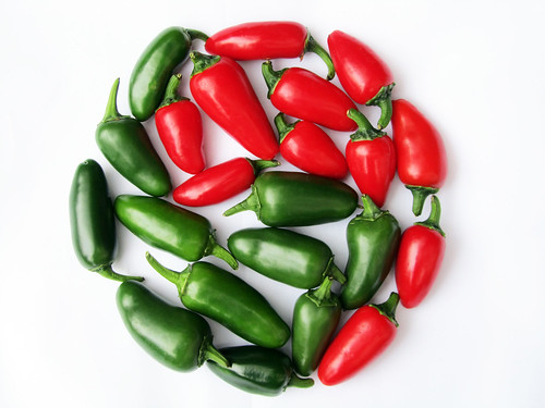 Yin Yang Of Jalapeno Chili Peppers