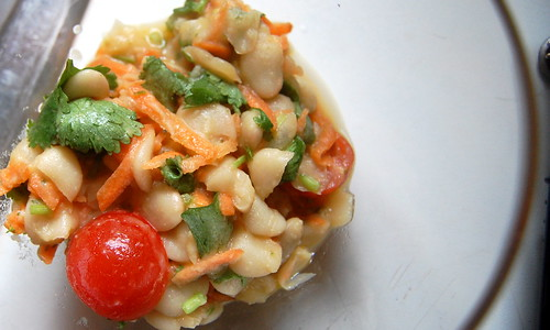 mexican-inspired butter bean salad.