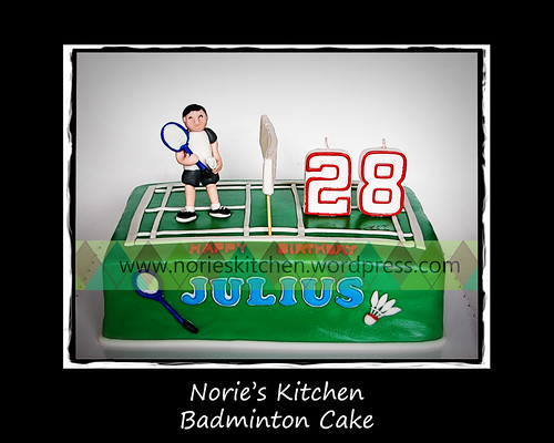 Norie's Kitchen - Badminton Themed Cake by Norie's Kitchen