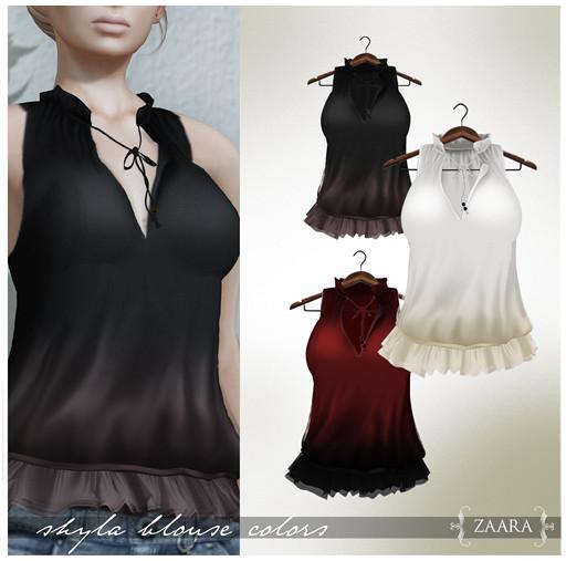 Zaara : Shyla Blouse colors 3