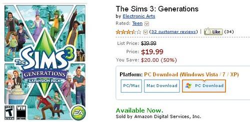 Amazon + Generations -  = AweSim!