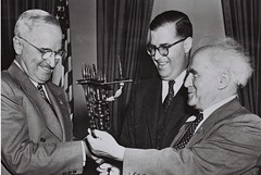 P.M. Ben-Gurion, Mr. Abba Eban and U.S. Presid...