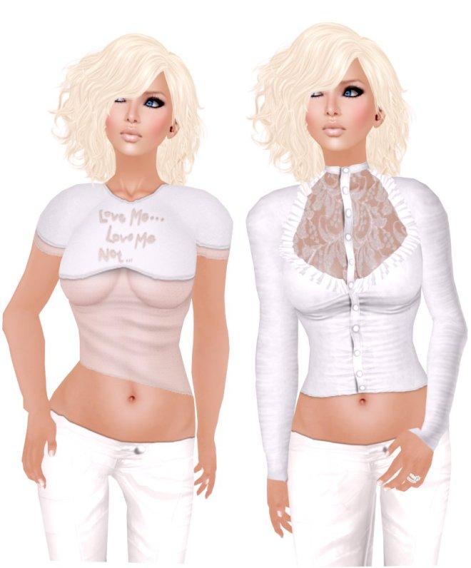 :::LiNe::: LoveMe & FrillFrill in White