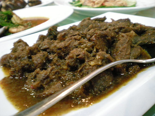 FishermanRestaurant daging masak hitam