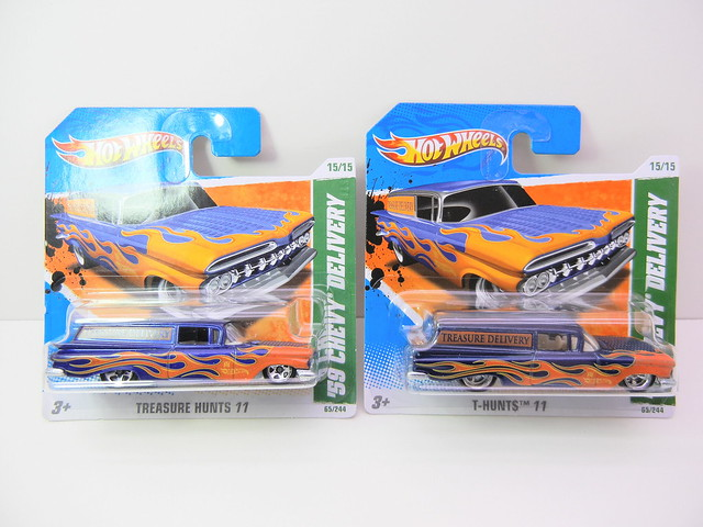 hot wheels treasure hunt '59 chevy delivery super and regular