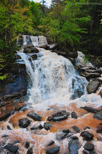 Kaaterskill Falls in the Catskill Mountains Park of New York state.