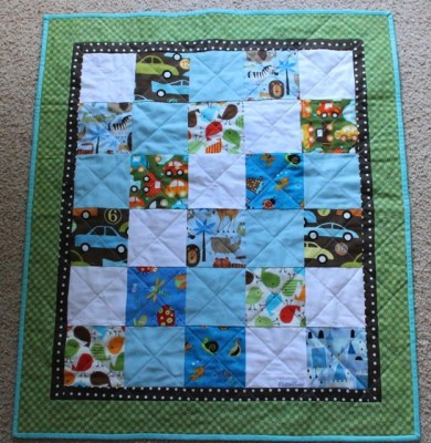 Simple baby boy quilt