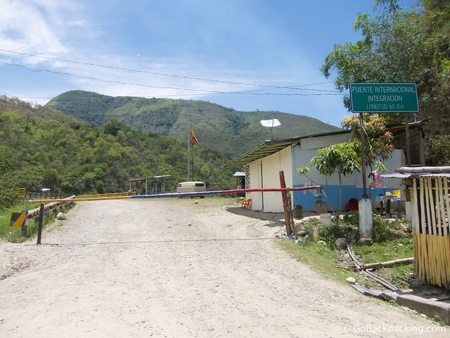 The Ecuador-Peru border at La Balsa (as viewed from Ecuadorian side)