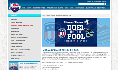 USA Swimming - Mutual of Omaha Duel in the Pool