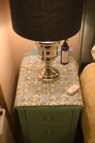 Master bedroom on a budget: nightstands