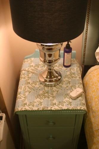 Master bedroom on a budget: nightstands