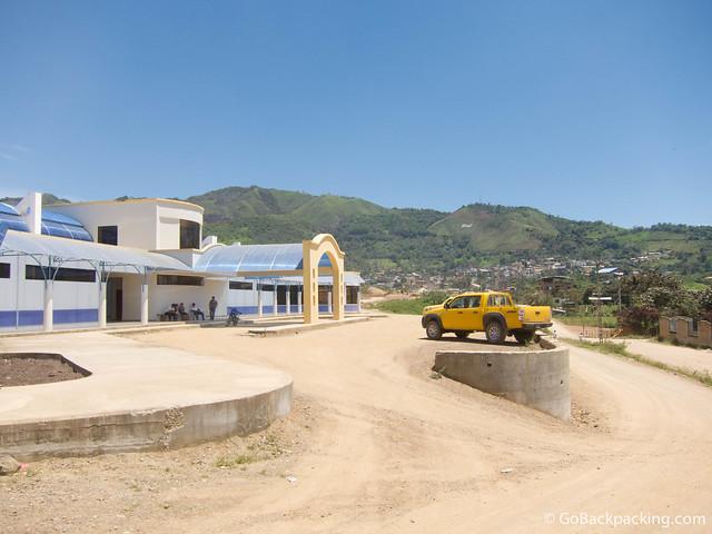 Bus station in Zumba, Ecuador