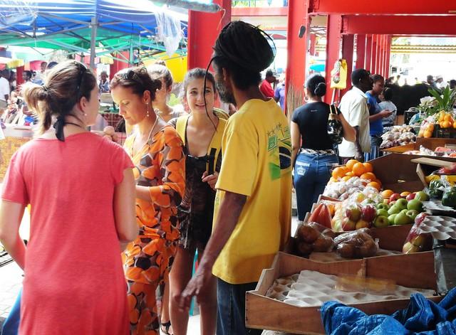 Market in Victoria, Mahe Island, Seychelles