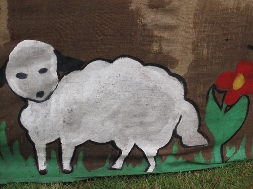 Oh, look at the cute little lamb. It goes from this...