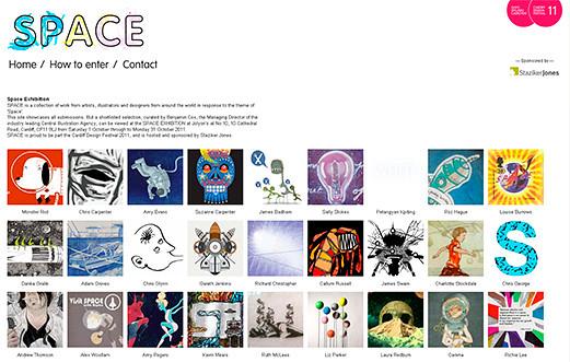 space exhibition website