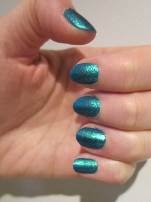 Matte Turquoise Nails
