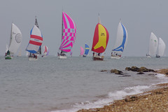 JOG fleet heading for the finish Solent race.