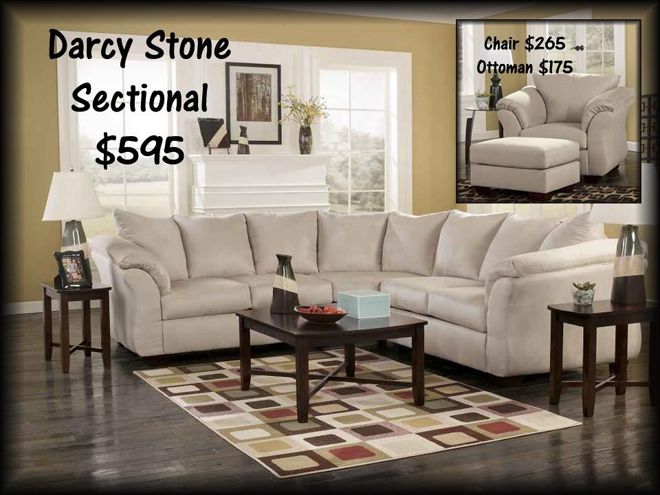 75000darcystonesectional$595
