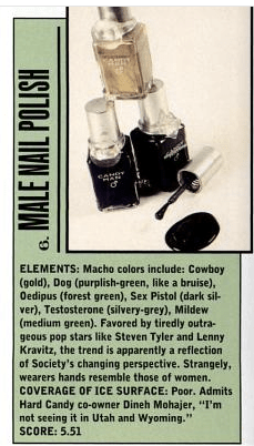 Candy Man Nail Polish, Spy Magazine Worst of 1997, #6