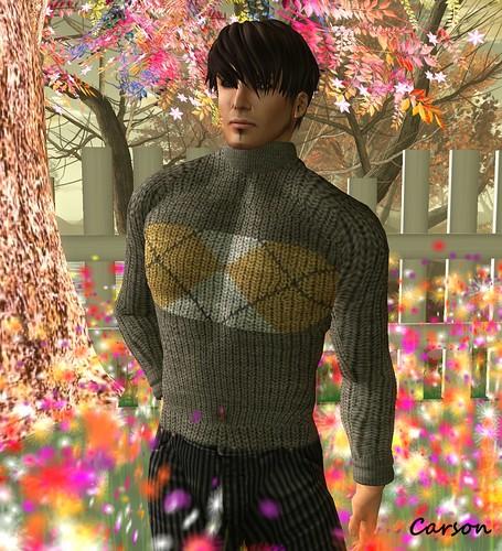 KEDAMA MENS Grey Knitted Sweater