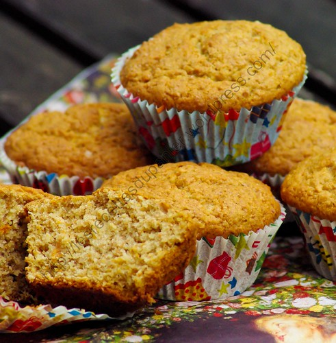 Muffins Noisettes & Carottes / Hazelnut & Carrot Muffins