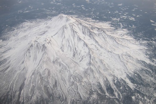 Mount Shasta in snow