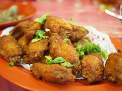 Fried chicken wings. Ban Leong Wah Hoe Seafood, Casuarina Road, Upper Thomson, SIngapore