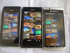 Nokia N9, Xperia Arc, Nokia N8