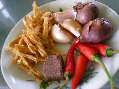 Ingredients for sambal