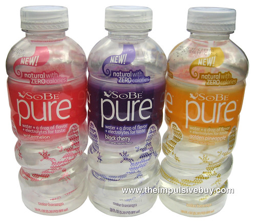 Sobe Pure Water (Watermelon, Black Cherry & Golden PIneapple)