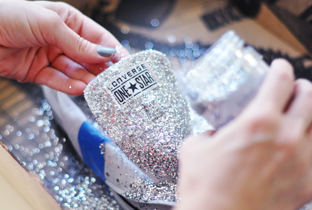 Glitter Sneaker DIY - 3