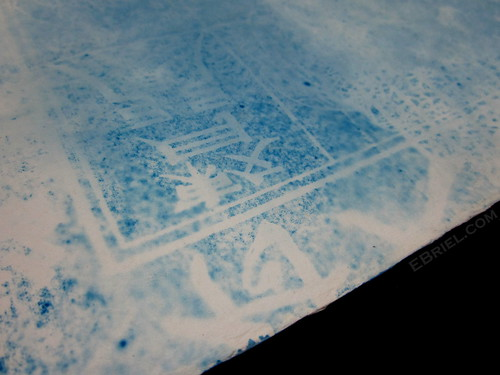 Cyanotype test: chinese paper print