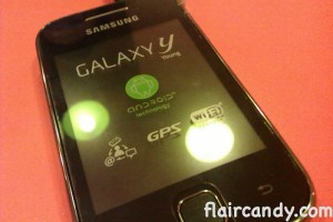 Samsung Galaxy Y with SmartNet