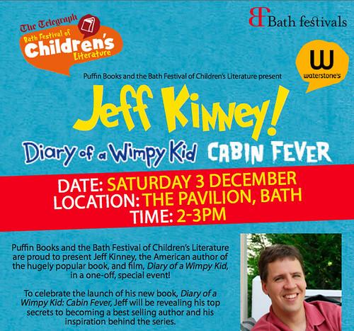 Jeff Kinney at Bath Festival poster