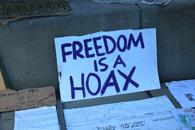 Freedom is a hoax