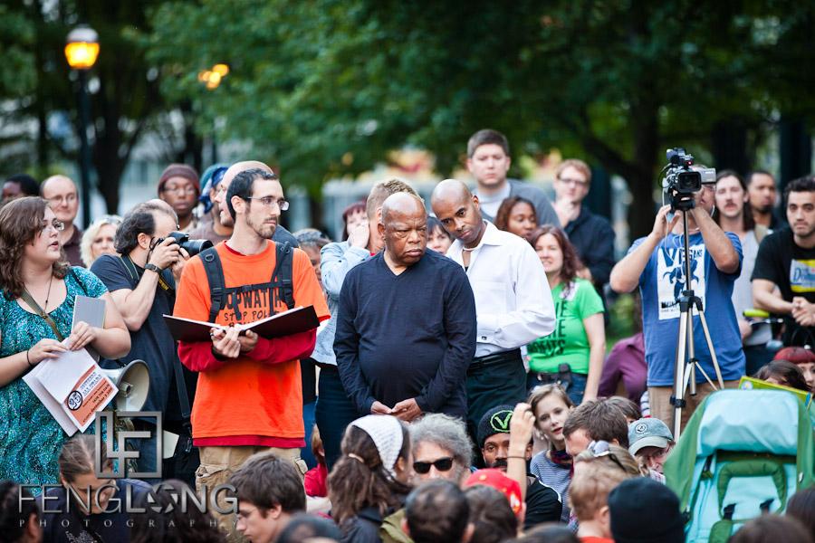 Congressman John Lewis   #OccupyAtlanta General Assembly Woodruff Park 10/07 Occupy Atlanta #OccupyWallStreet