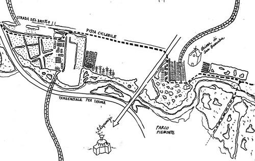 mappa del Parco Agricolo del Sangone