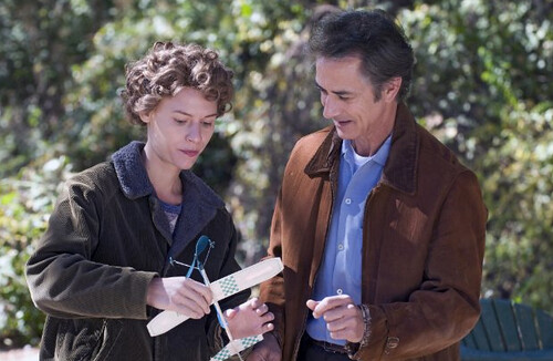Claire Danes as Temple Grandin, with David Strathairn