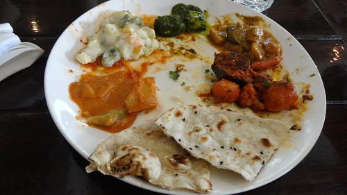 Veg main course at Cafe Masala