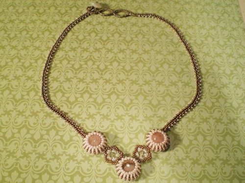 Pink and Brown Victorian Princess Necklace