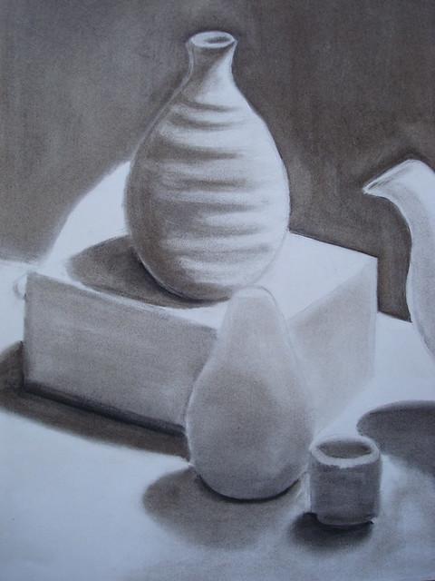Charcoal still-life detail 1