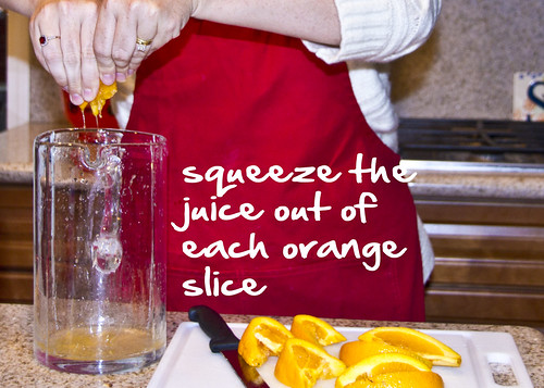 squeeze out juices