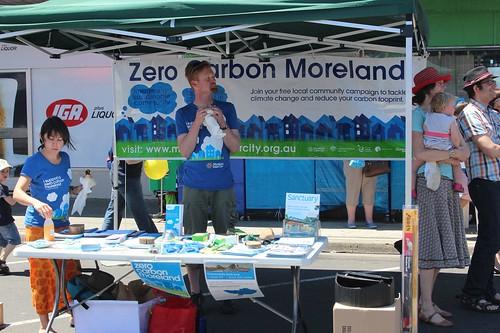 Zero Carbon Moreland stall at Fawkner Festa 2011 - Bonwick St