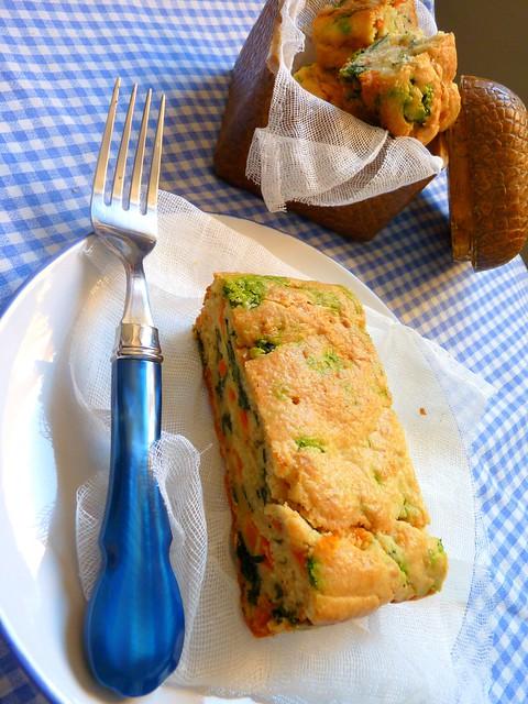 Cake Parmesano y verduras