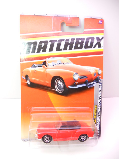 matchbox kharmann ghia convertible red  (1)
